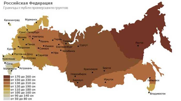 Промерзание-почвы-карта-рф
