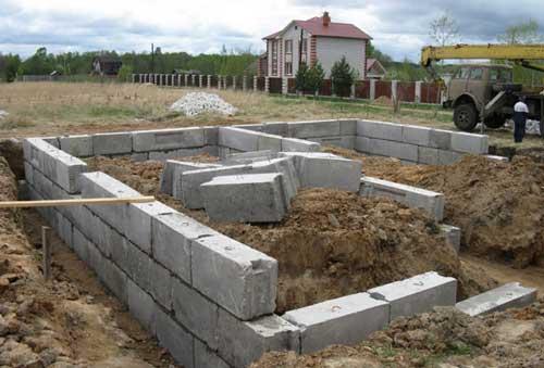 фундамент-пеноблок