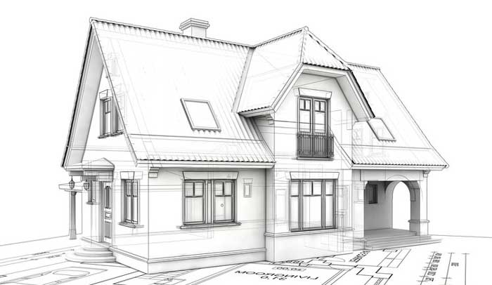 чертеж-дома-конструкция