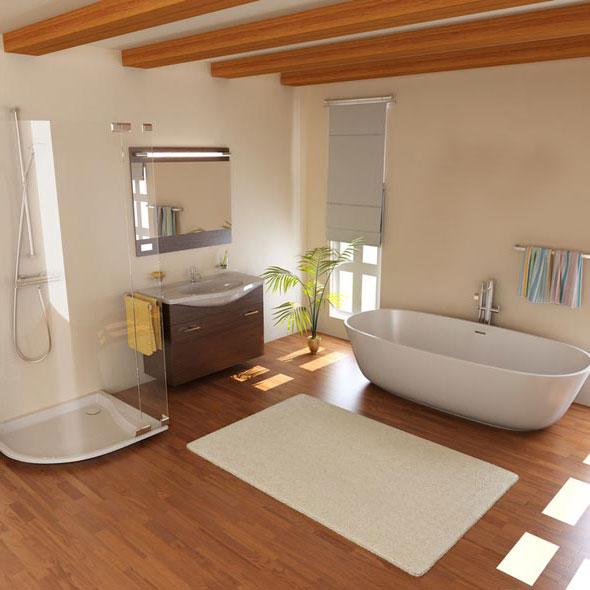 душ-ванная-отделка-ламинат-дерево