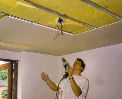гипсокартон-монтаж-потолок-гипсокартон