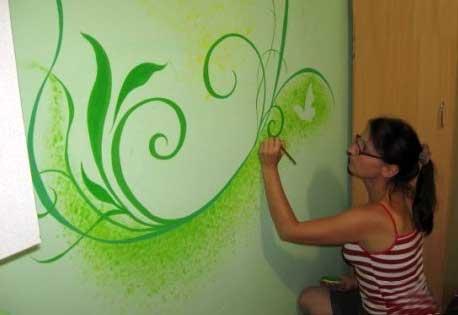 узоры-покраска-стен-в-доме