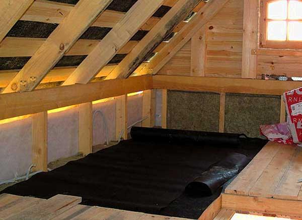 пергамин-крыша-каркасного-садового-дома