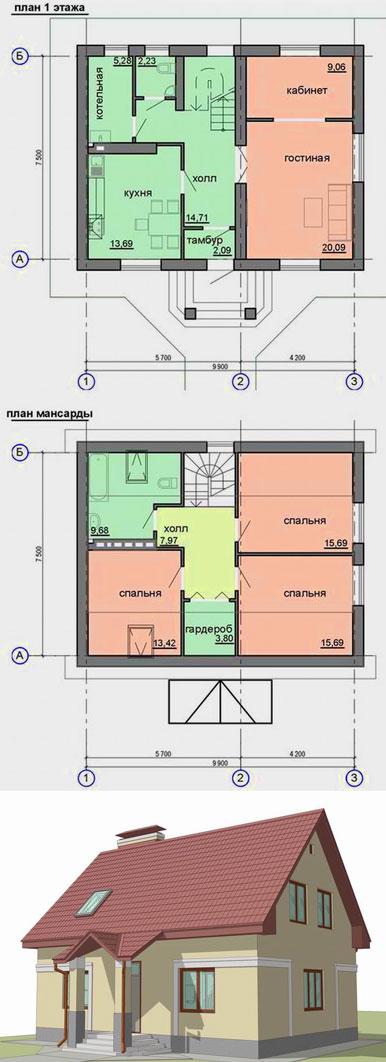 готовый-проект-каркасного-дома-с-мансардой