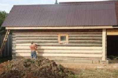 реставрация-бревенчатого-дома-шлифовка