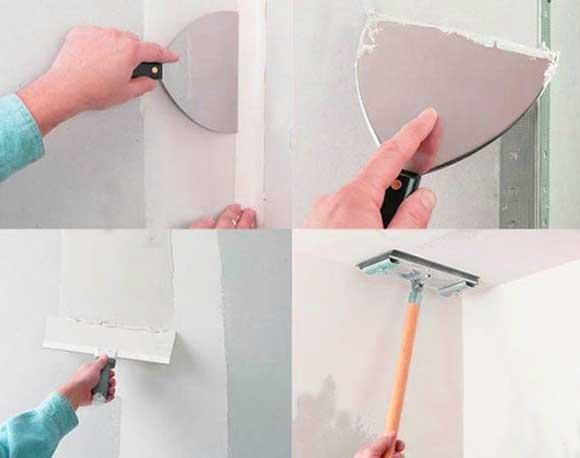 сухая-отделка-стен-покрытие-шпатлевкой