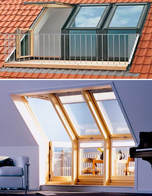 Балкон мансардных окон