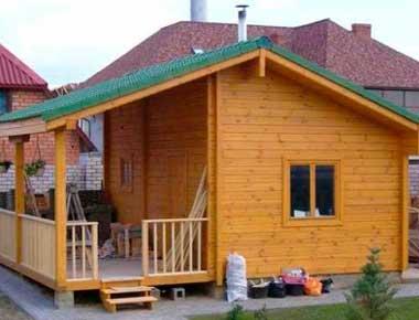 Летний каркасный домик не нуждается в толстых стенах