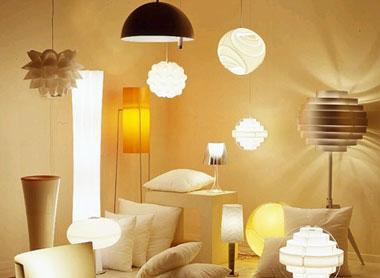 Освещение и лампа в доме