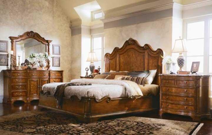Спальня английского стиля в интерьере