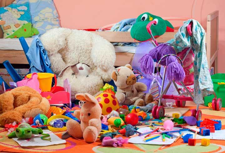 Беспорядок в детской комнате