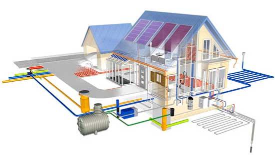 Водопровод в доме от источника водопровода
