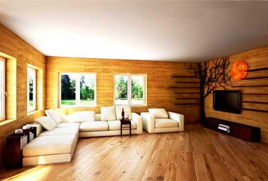 Дизайн гостинной с белым диваном