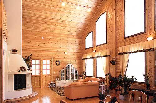Дизайн гостинной с камином в доме