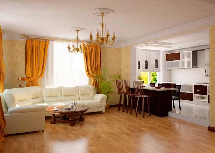 Интерьер гостинной в частном доме