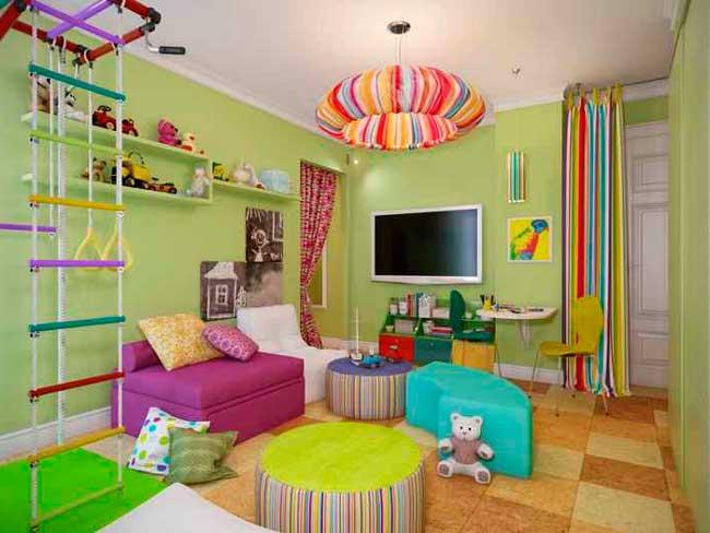 Красивая обстановка игровой комнаты