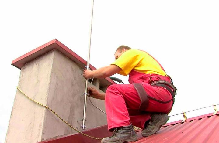 Молниезащита на крышу дома