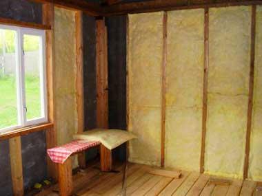 Монтаж теплоизоляции внутри дома
