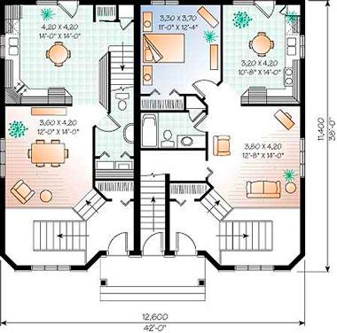 Планировка комнаты в доме