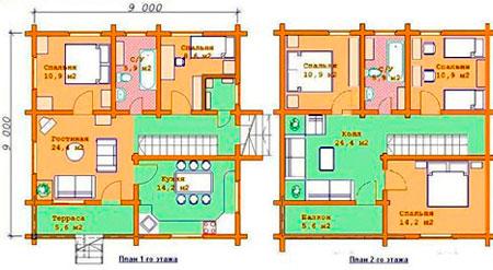 План комнат в доме с расстановкой мебели