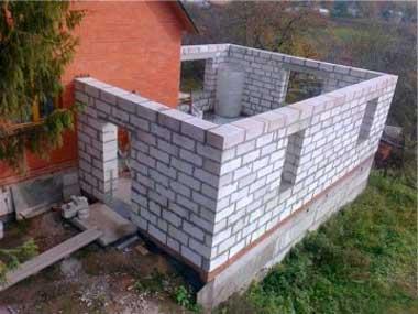 Пристройка к кирпичному дома