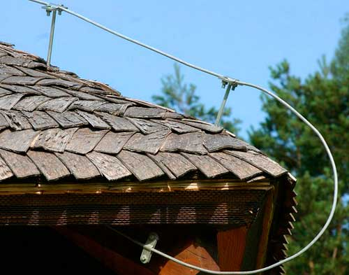 Защита дома проволкой от молниезащиты