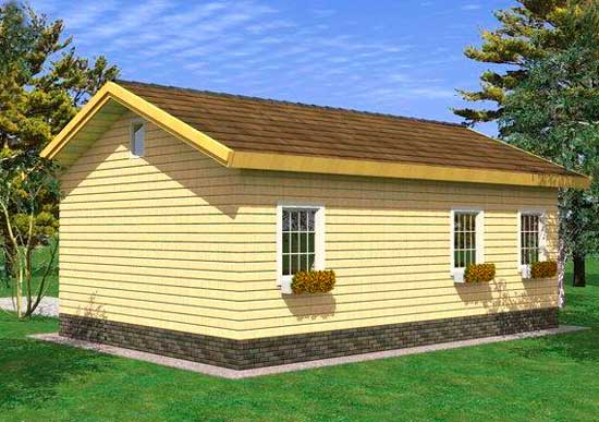 Проект дома из бруса за 1 млн рублей