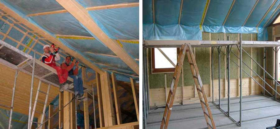 Теплоизоляция крыши каркасного дома