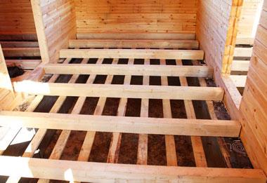 Укладка деревянного пола в доме