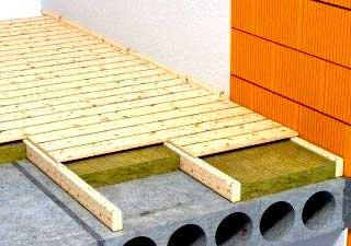 Укладка деревянного пола на лаги на бетонный пол