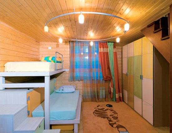 Шкафы и кровати в детской