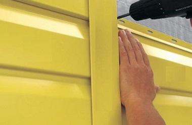 Желтый сайдинг из металла