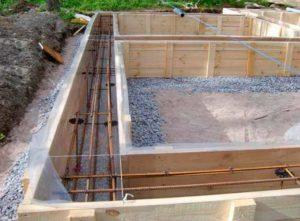 Подготовка ленточного фундамент для дачного дома