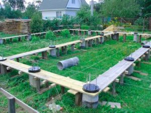 Особенности столбчатого фундамента для дачного дома