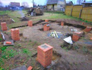 Строительство столбчатого фундамента для дачного дома