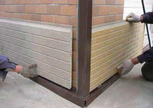 Установка пластиковых фасадных панелей