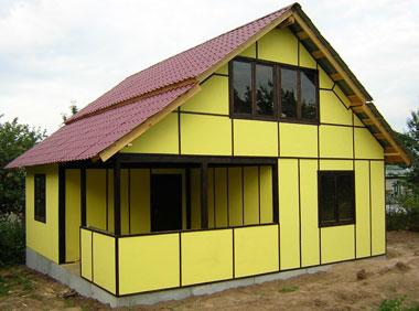 сендвич-панели в строительстве дома