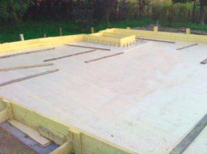 Плитный фундамент для дачного дома