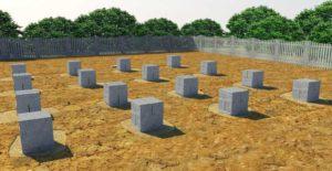 Столбчатый фундамент для дачного дома