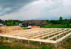 Столбчатый фундамент для каркасных домов