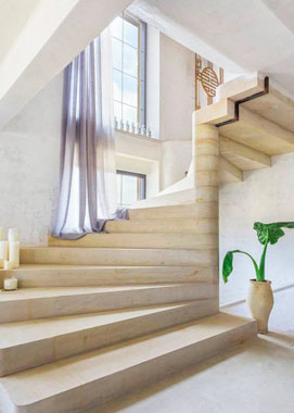 бетонная лестница в частном доме