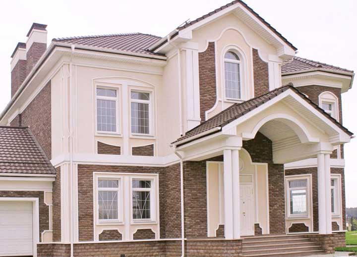 Классика в отделке фасада дома
