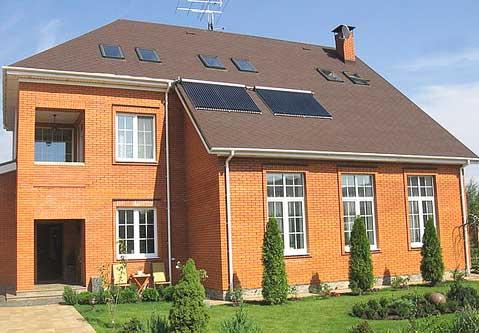 комплект солнечных коллекторов для дома