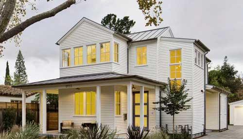 стильный дизайн фасада дома