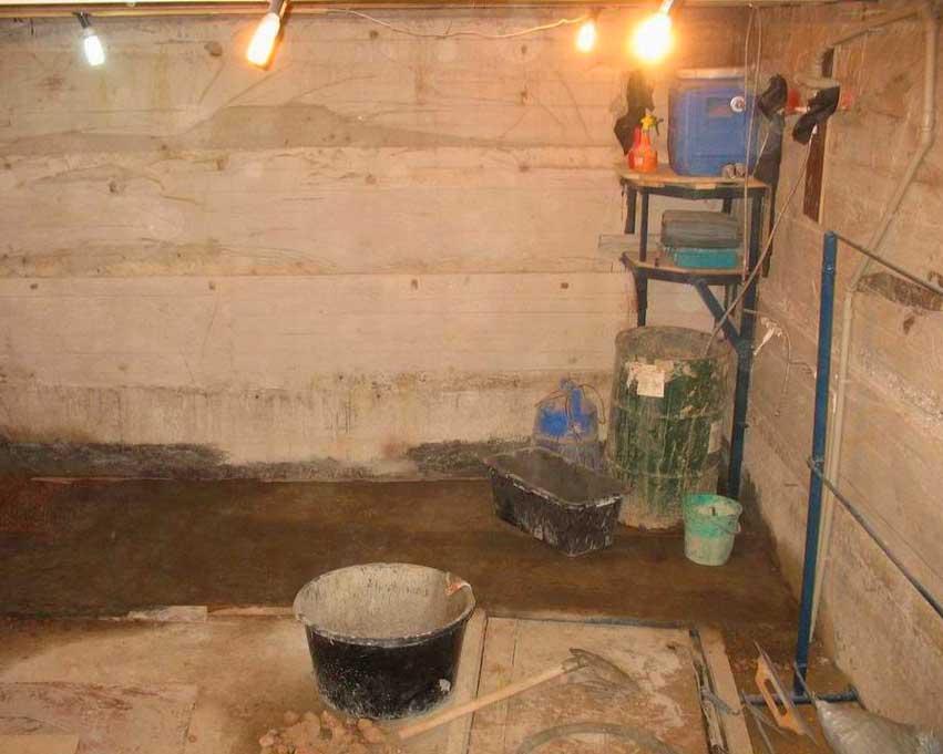 обустройство сауны в подвале