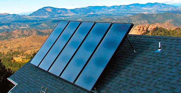 солнечные коллекторы отопление дома зимой