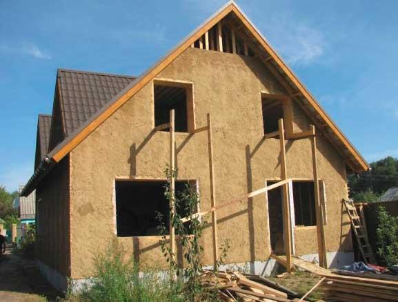 строительство каркасно-глинобитного дома