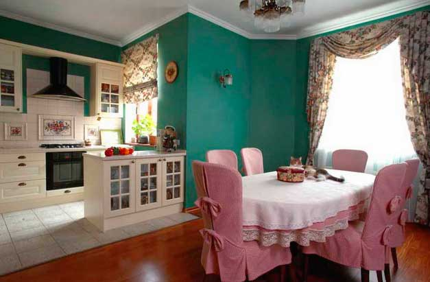 кухня-столовая в доме