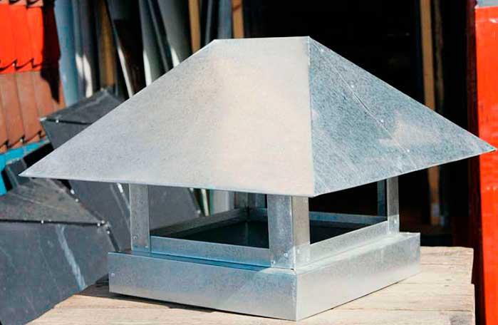 колпак на дымоход из оцинкованной стали
