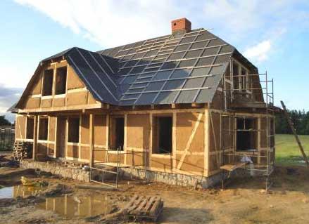 глинобитный каркасный дом